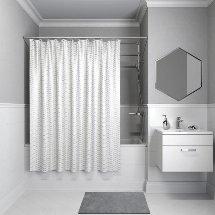 Штора для ванной комнаты, 200*180см, полиэстер, B34P218i11, IDDIS