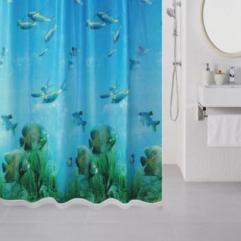 Штора для ванной комнаты, 180*180 см, PEVA, Underwater, Milardo, 518V180M11
