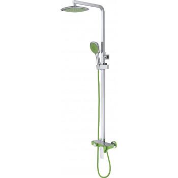 Душевая система D&K Berlin.Humboldt DA1433712A02 зеленый-хром