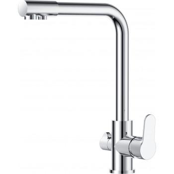 Смеситель для кухни D&K Rhein.Marx DA1391601 с подключением к фильтру хром