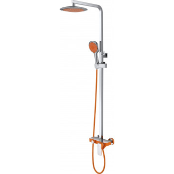 Душевая система D&K Berlin.Kunste DA1433713A02 оранжевый-хром