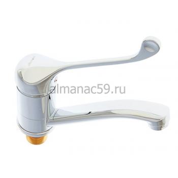 Смеситель для кухни Accoona A4241, однорычажный, с хирургической ручкой, силумин, хром