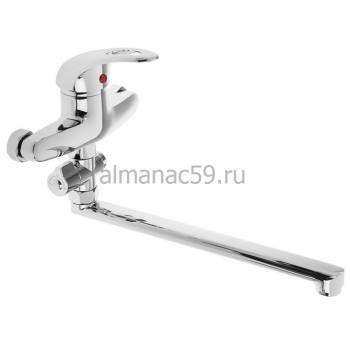 Cмеситель для ванны Accoona A7040, однорычажный, силумин, хром