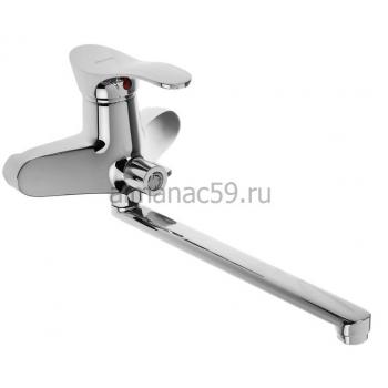 Cмеситель для ванны Accoona A7105, однорычажный, латунь, хром
