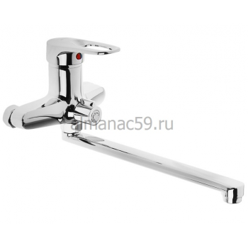 Смеситель для ванны Accoona A7142, однорычажный, силумин, хром