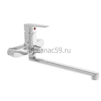 Смеситель для ванны Accoona A7165, однорычажный, излив 300 мм, хром