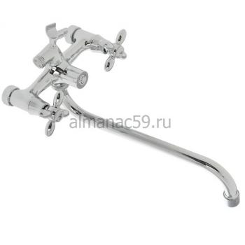 Cмеситель для ванны Accoona A7178, двухвентильный, с душевым набором, латунь, хром