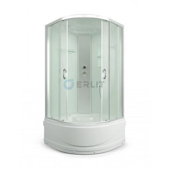 Душевая кабина 90*90*215 белые стенки, матовое стекло, высокий поддон ERLIT ER3509TP-C3-RUS