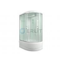 Душевая кабина 120*80*215 левая, белые стенки, матовое стекло, высокий поддон ERLIT ER3512TPL-C3-RUS