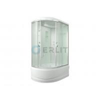 Душевая кабина 120*80*215 правая, белые стенки, матовое стекло, высокий поддон ERLIT ER3512TPR-C3-RUS