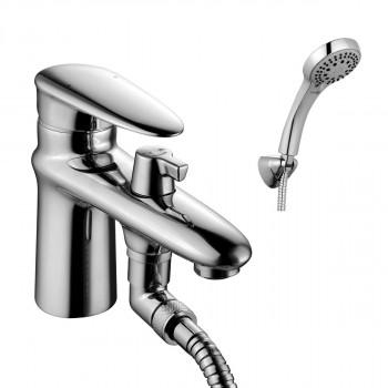 Смеситель на борт ванны, с коротким изливом, с аксессуарами, хром, Status, Lemark, LM4415C