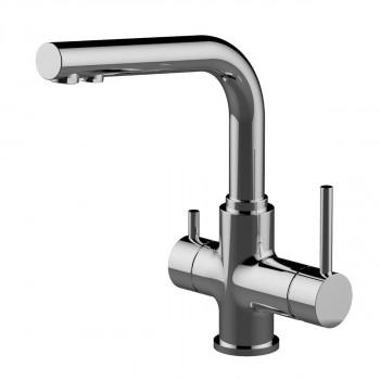 Смеситель для кухни, с подключением к фильтру питьвой воды, хром, высота 281 мм, Comfort, Lemark, LM3061C