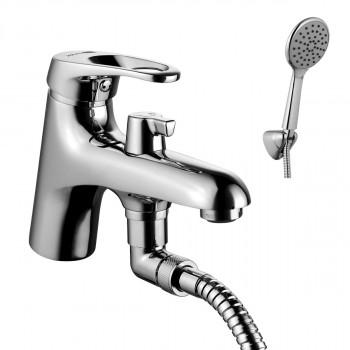 Смеситель на борт ванны, с коротким изливом, с аксессуарами, хром, Omega, Lemark, LM3115C