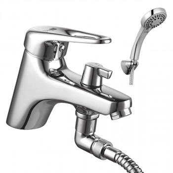 Смеситель на борт ванны с коротким изливом с аксессуарами, хром, Luna, Lemark, LM4115C