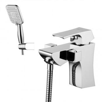 Смеситель на борт ванны, с коротким изливом, с аксессуарами, хром, Unit, Lemark, LM4515C