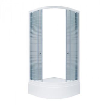 Душевой уголок Triton Стандарт 100х100 В полосы